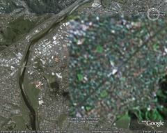 Here's a closeup of what Google Earth sees of Lower Hutt at the moment -- note the change in detail.
