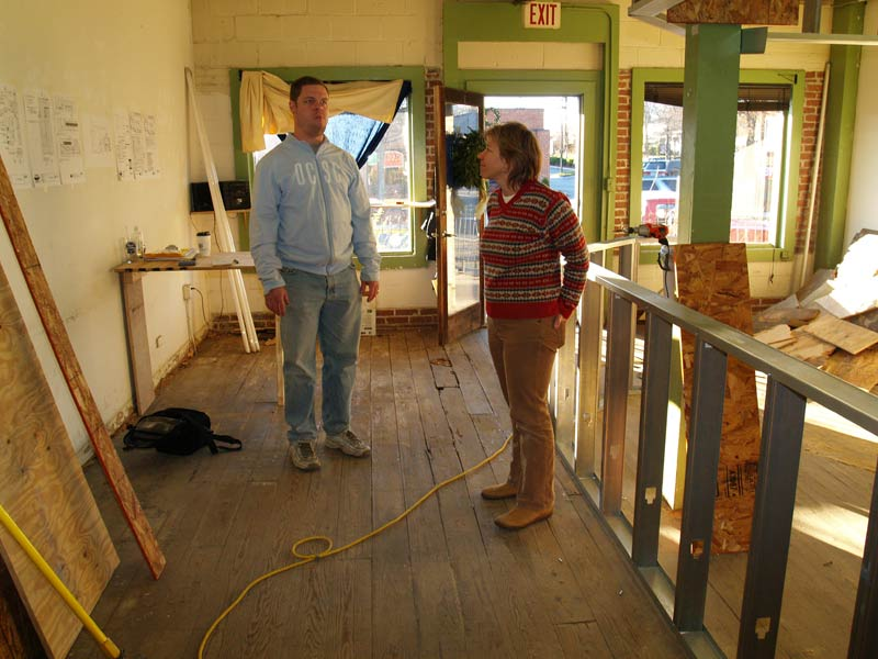 Matt and Sheila Neal contemplate the work ahead getting Neal's Deli ready to open. Photo by Kirk Ross