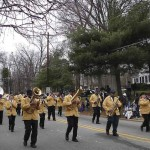 Members of the newly re-formed Central High School band perform in the Hillsborough Holiday parade in December.