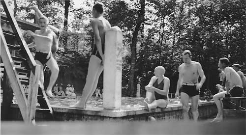 The Sparrow's Pool was a hotspot for Carrboro youth during the summer months. Photo courtesy of Lawrence McAdams