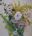 Wildflower bouquet of goldenrod, twining manroot, false foxglove and rose-pink could have been gathered along Old N.C. 86 between Calvander and Hillsborough. PAINTING PHOTO BY KEN MOORE