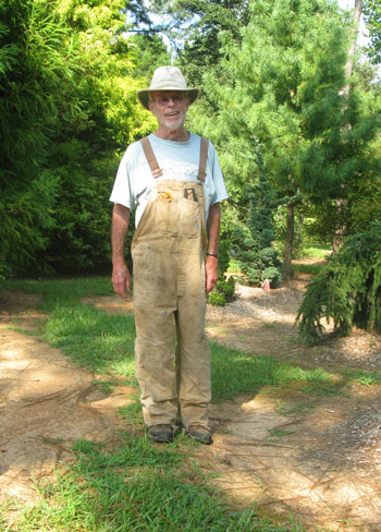Charlie Keith will be happy to greet visitors to his arboretum. Photo by David Swanson