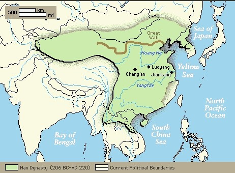 The art and images of china atlas historical maps territory of the han dynasty sciox Gallery