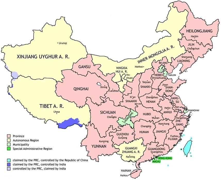 Interactive Map Of China S Provinces