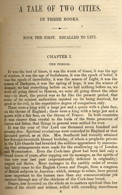 a tale of two cities by charles dickens 3 essay A tale of two cities essays are academic essays for citation these papers were written primarily by students and provide critical analysis of a tale of two cities by charles dickens.