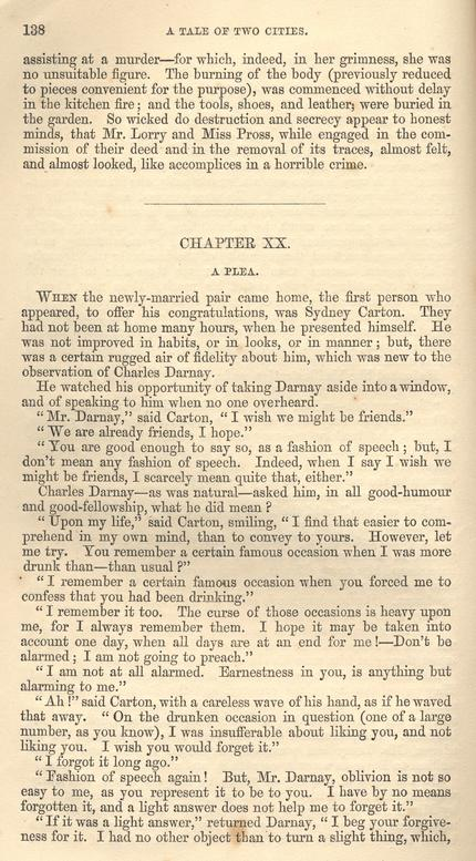 charles darnay sydney carton essay A tale of two cities: top ten quotes charles dickens essay q&a _____ sydney carton explaining to darnay why he drinks to excess.
