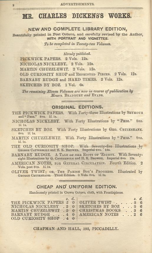 Dickens Charles 1812 1870 A TALE OF TWO CITIES No III