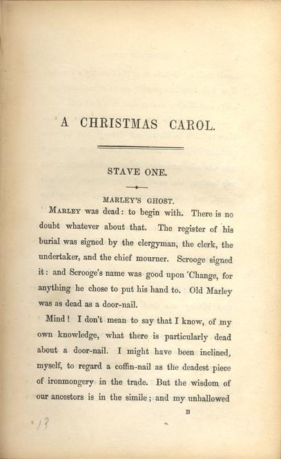 Dickens, Charles, 1812-1870. A Christmas Carol. In Prose. Being a Ghost Story of Christmas ...