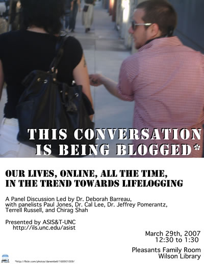 This conversation is being blogged - flyer