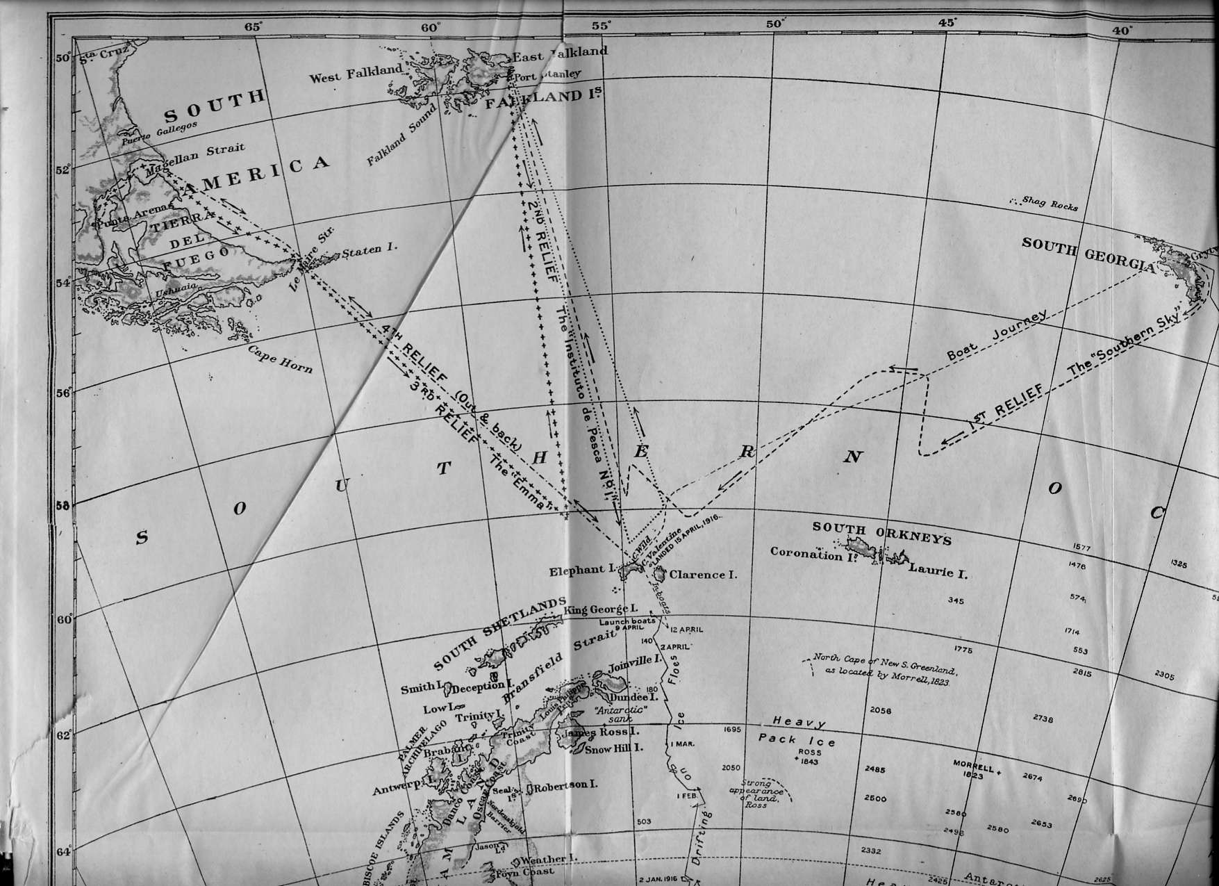 Map (section 2): The Voyage Of The Endurance