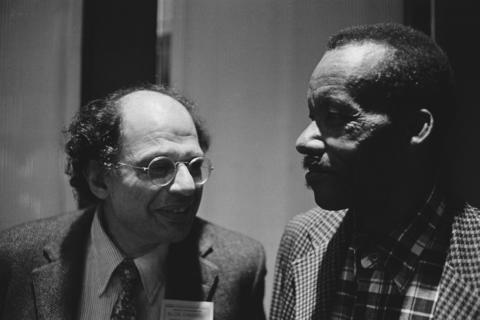 "James ""Son"" Thomas with Allen Ginsburg"