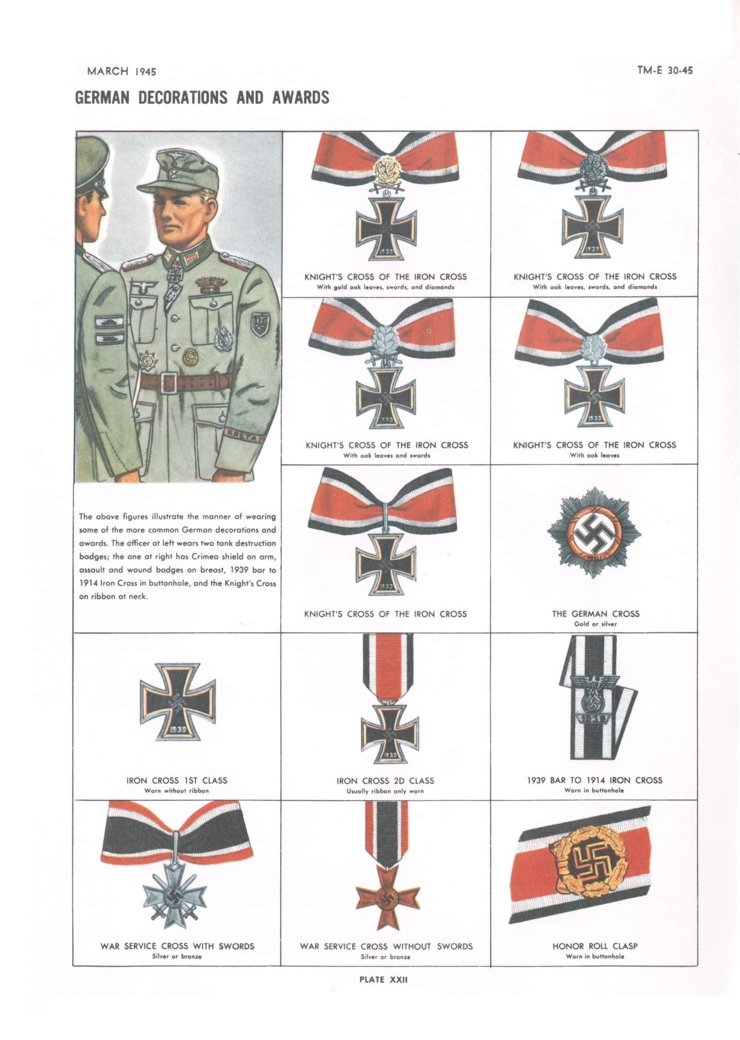 Hyperwar handbook on german military forces chapter 9 - German military decorations ww2 ...