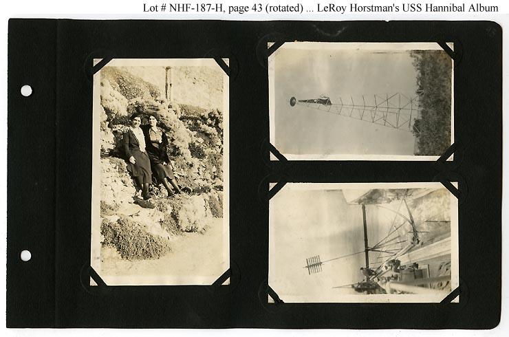 Photo Page: LeRoy R. Horstman's USS Hannibal (AG-1) Photo Album