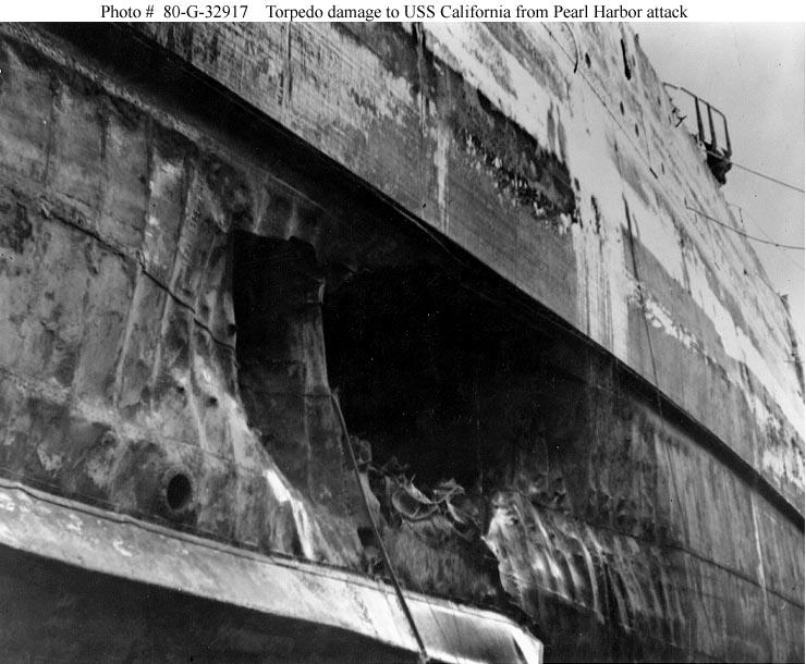 Salvage And Repair Of Uss California December 1941