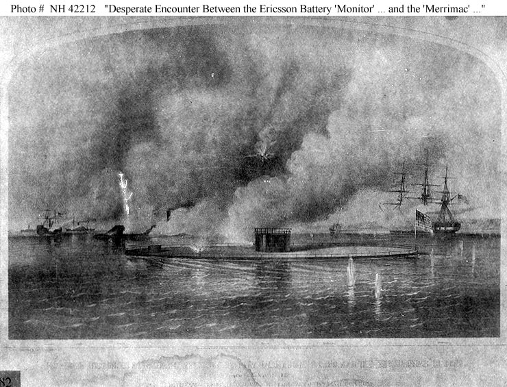 An analysis of the battle between the uss monitor and the css merrimack