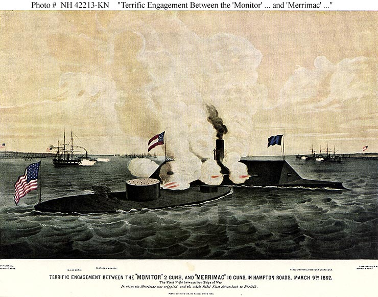 a history of battle between the uss monitor and the css merrimack Uss merrimack, also improperly merrimac, was a frigate, best known as the hull upon which the ironclad warship css virginia was constructed during the american civil warthe css virginia then took part in the battle of hampton roads (also known as the battle of the monitor and the merrimack) in the first engagement between ironclad warships.