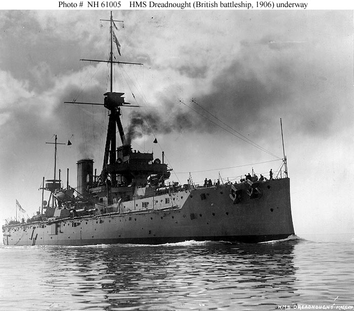 Photo of the H.M.S. Dreadnought