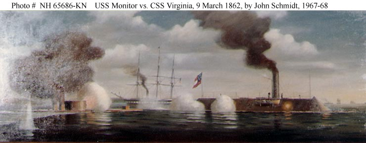 the naval battle between the uss monitor and the css merrimack in 1862 On march 9, 1862, the uss monitor and css virginia, better known as the  merrimack  monitor and merrimack, monitor and merrimac, monitor and virginia,  battle of hampton roads us naval history and heritage command.