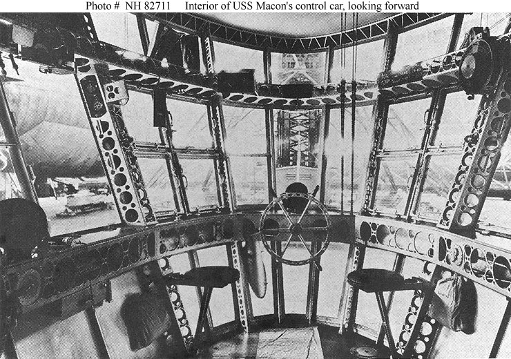 Usn Aircraft Uss Macon Zrs 5 On Board Construction