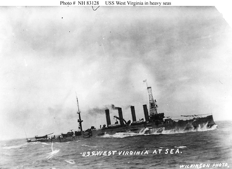 USN Ships--USS West Virginia (Armored Cruiser # 5, later ...