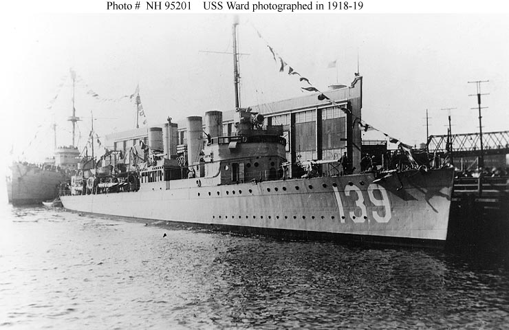 USN Ships USS Ward DD 139 Later APD 16