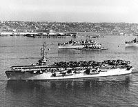 Usn Ships Uss Rendova Cve 114 Later Akv 14