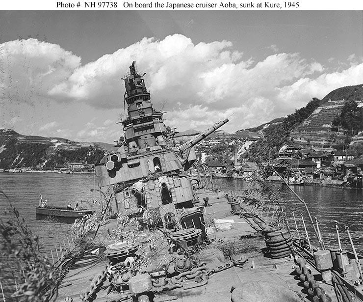Kure Japan  City new picture : Japanese Navy Ships Aoba Sunk at Kure, Japan, 1945