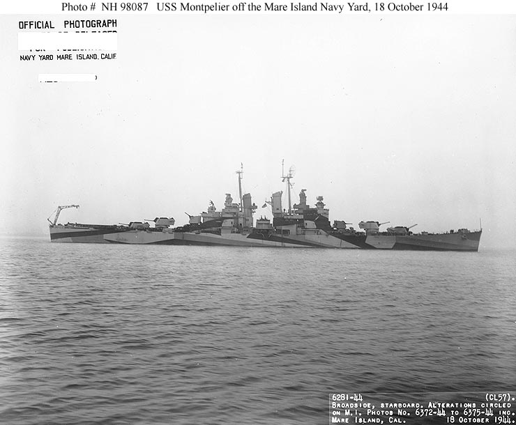 USN Ships--USS Montpelier (CL-57