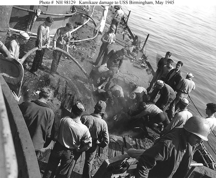 USN Ships--USS Birmingham (CL-62) -- Actions and Activities