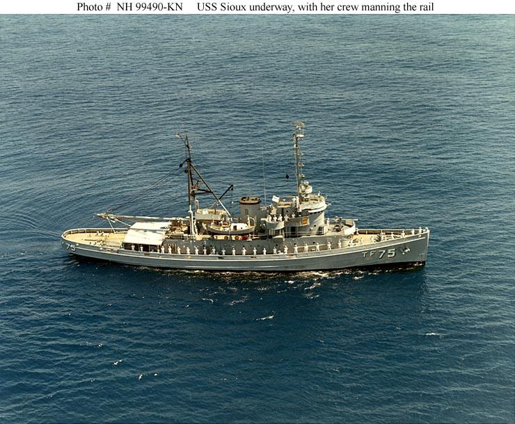 Usn ships uss sioux atf 75 originally at 75 for 99490