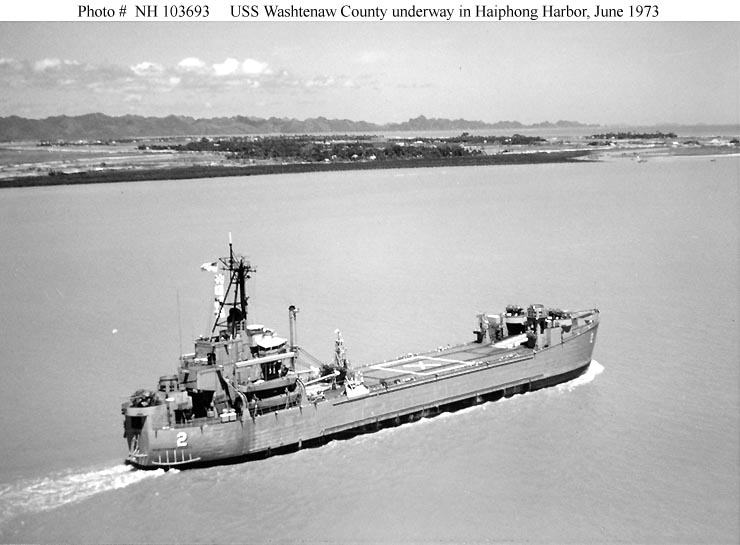 Usn Ships Uss Washtenaw County Lst 1166 Later Mss 2