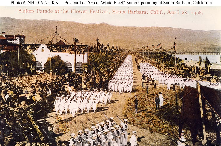 Events World Cruise Of The Great White Fleet 1907 1909