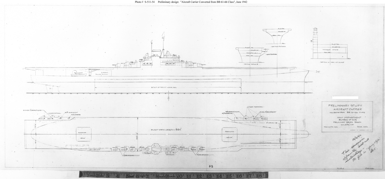 USN Ship Types Iowa class BB 61 through 66