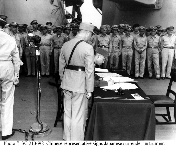 SURRENDER OF JAPAN, 2 September 1945, Signing the ...