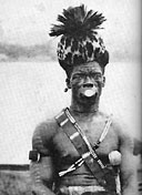 A chief of the Nya Lukolela tribe