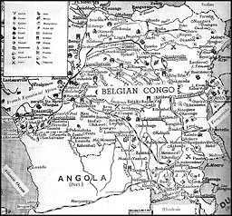Map: Belgian Congo