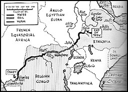 Map of the Ethiopian campaign