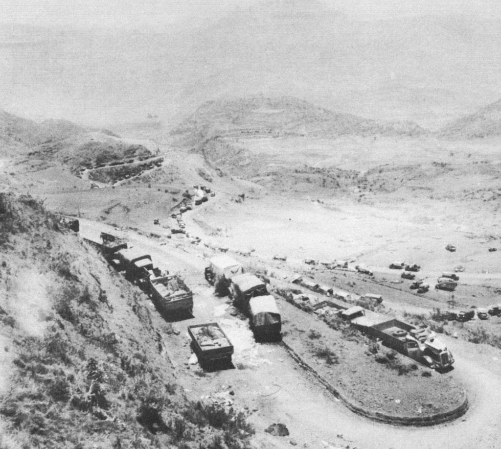 Italian vehicles abandoned