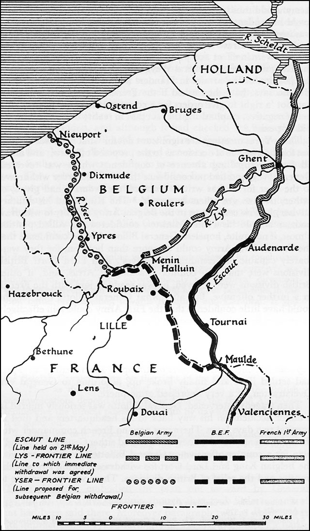 Disposition of the Allied Armies in Belgium