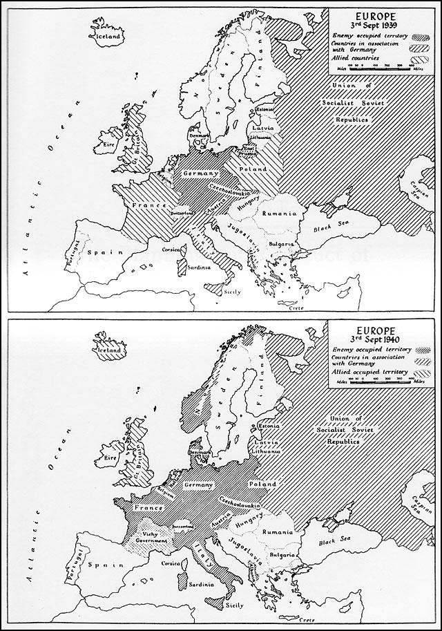Europe Map 1939