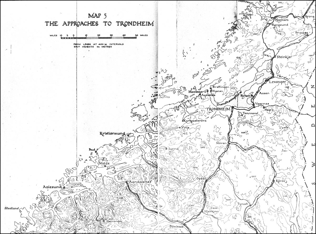 The Campaign In Norway Historical Resources About The Second - Norway map drawing