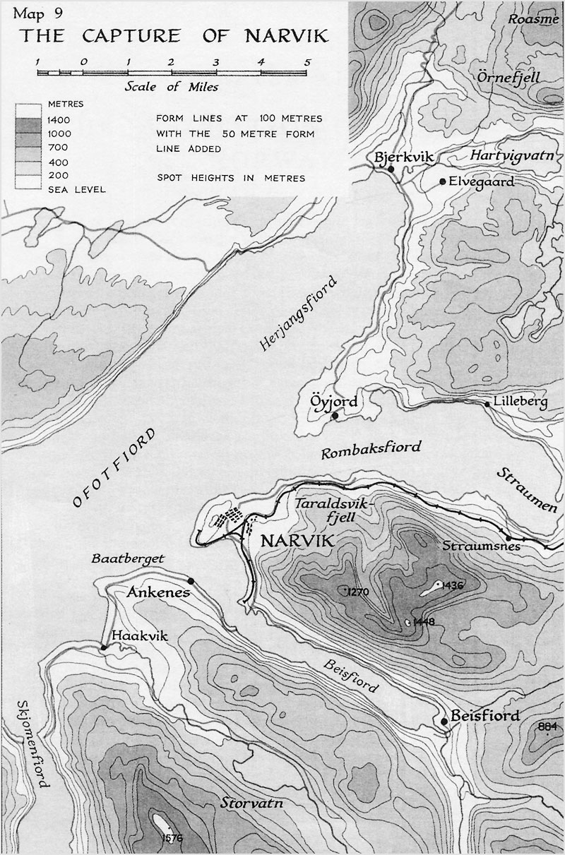 The Campaign In Norway Historical Resources About The Second - Norway map jpg