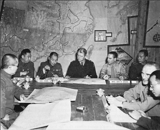 Brigadier General Mervin E. Gross, Chinese American Staff Conference, 1945