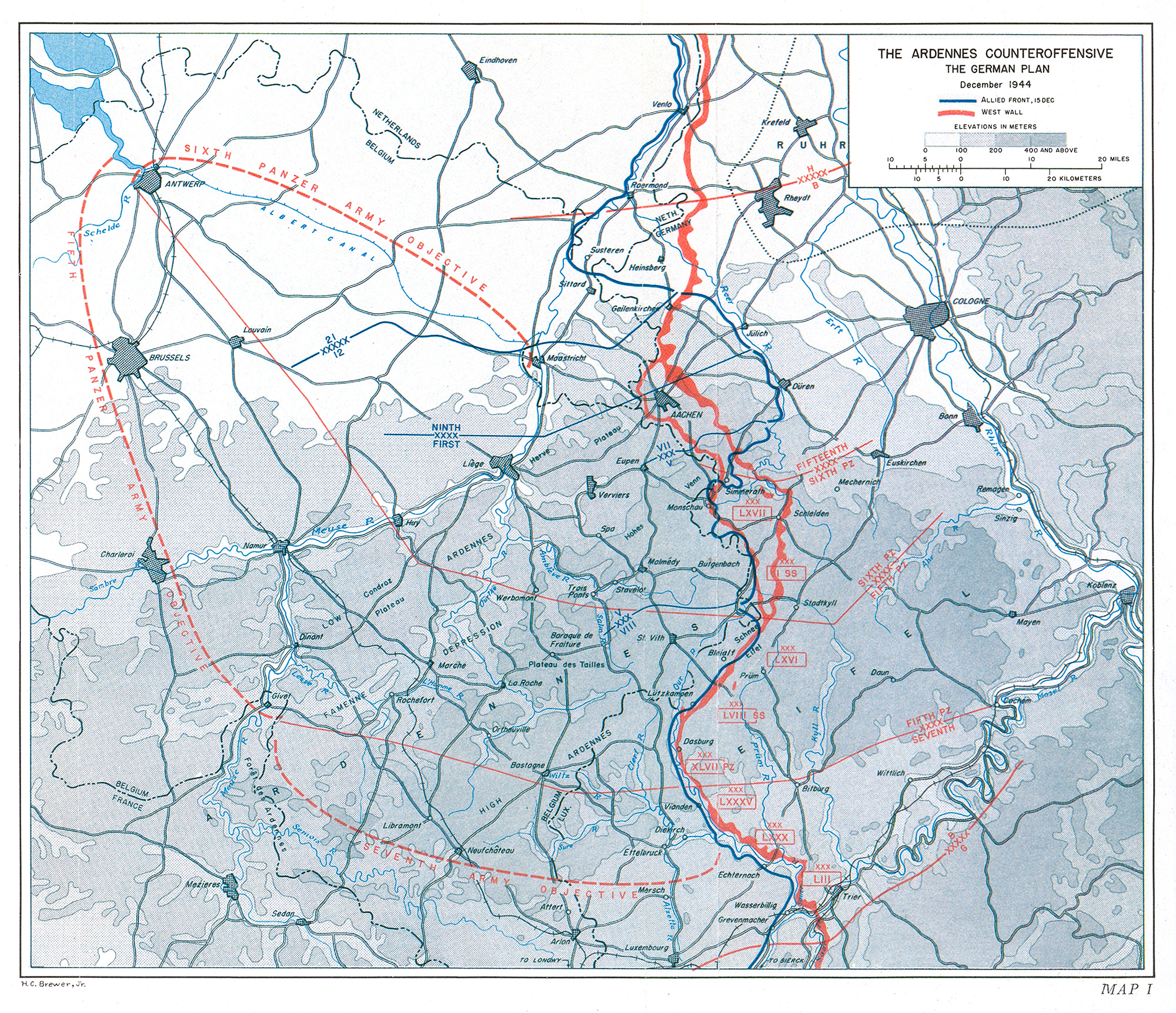 i the ardennes counteroffensive the german plan december 1944