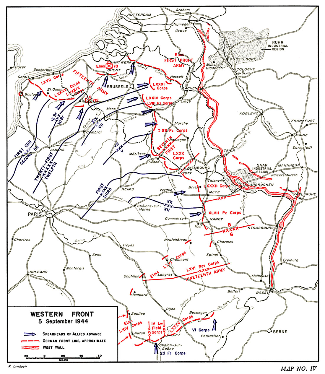 HyperWar US Army In WWII The Lorraine Campaign - Us army ww2 maps