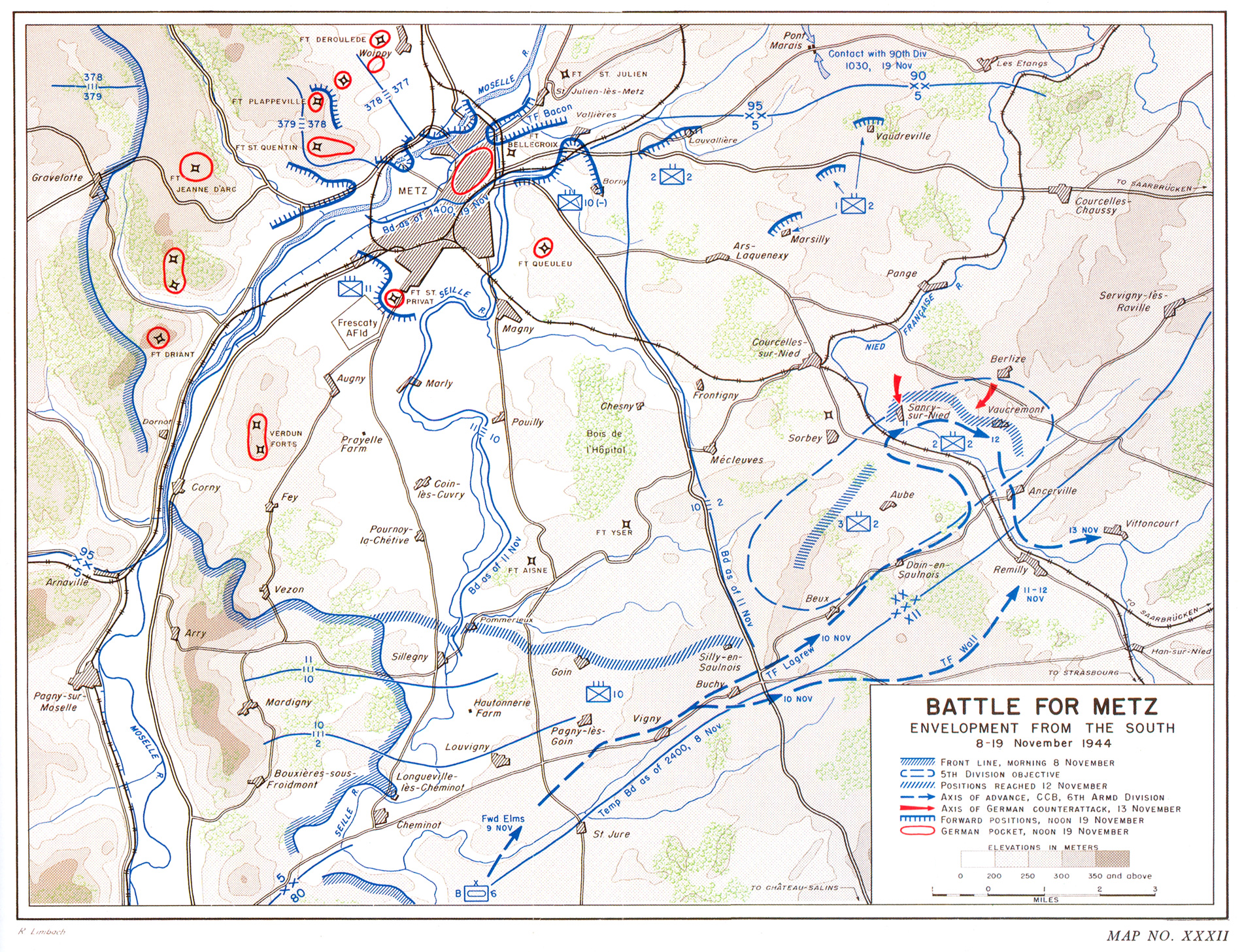 HyperWar US Army In WWII The Lorraine Campaign - Us map ww2