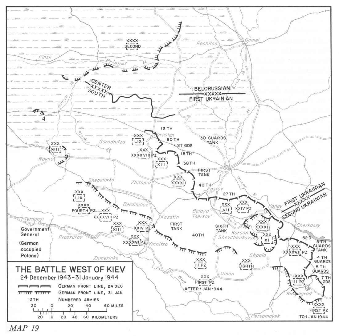 The battles west of Kiev