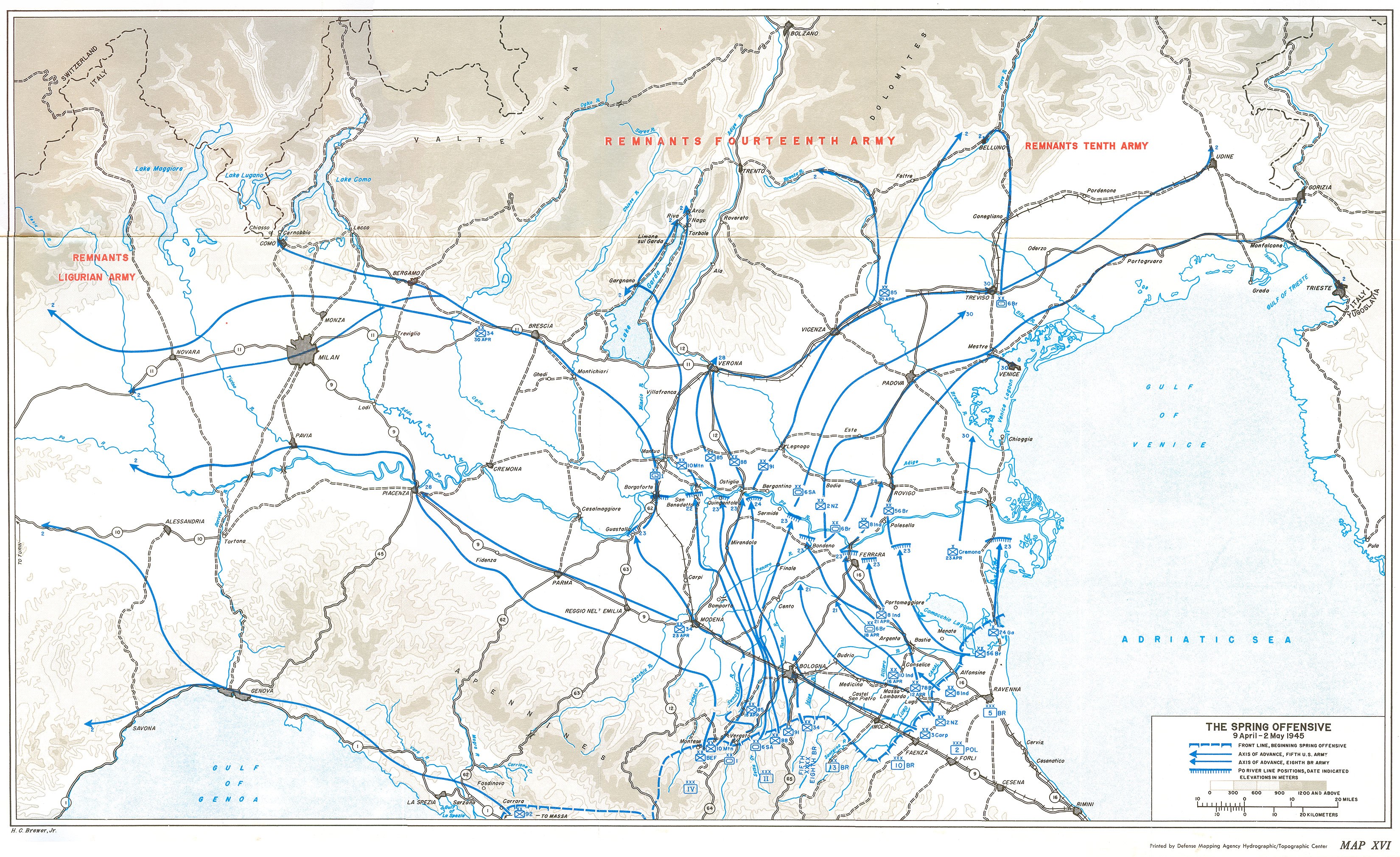Maps: HyperWar: US Army In WWII: Cassino To The Alps [Chapter 27]