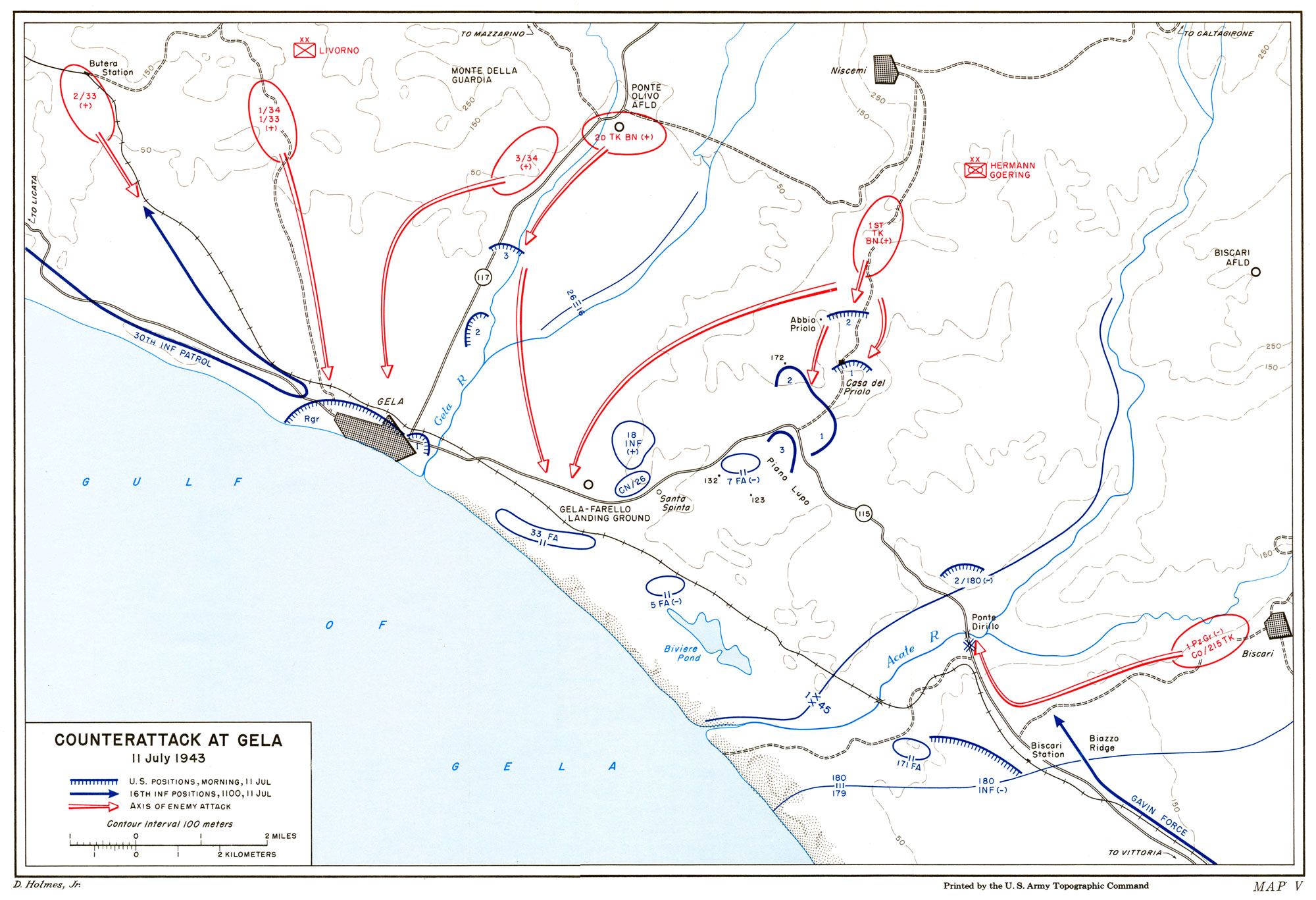 The German counterattack at Gela