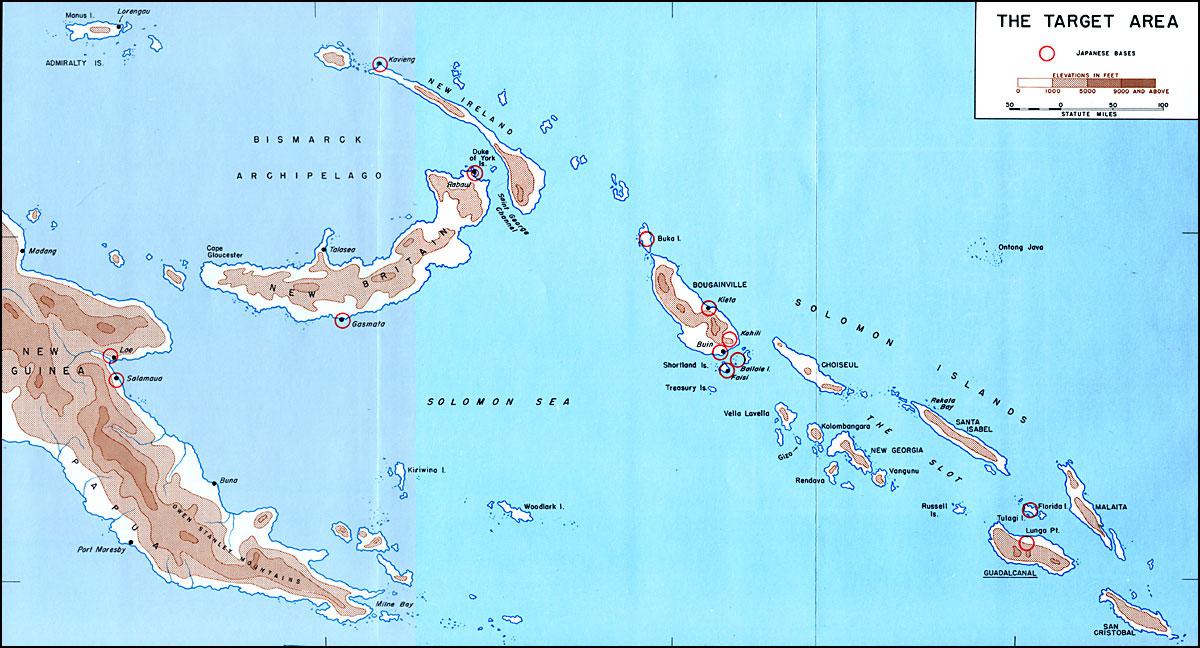 Guadalcanal island map